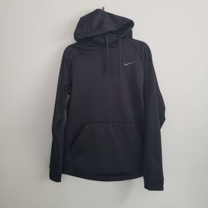Nike L Men's dri-fit black hooded pullover